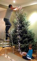 Kerstboom versieren 2009